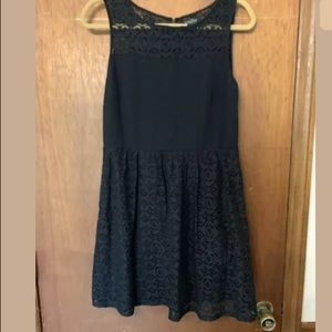 Lucky Brand Dress Black Lace Fit And Flare Dress